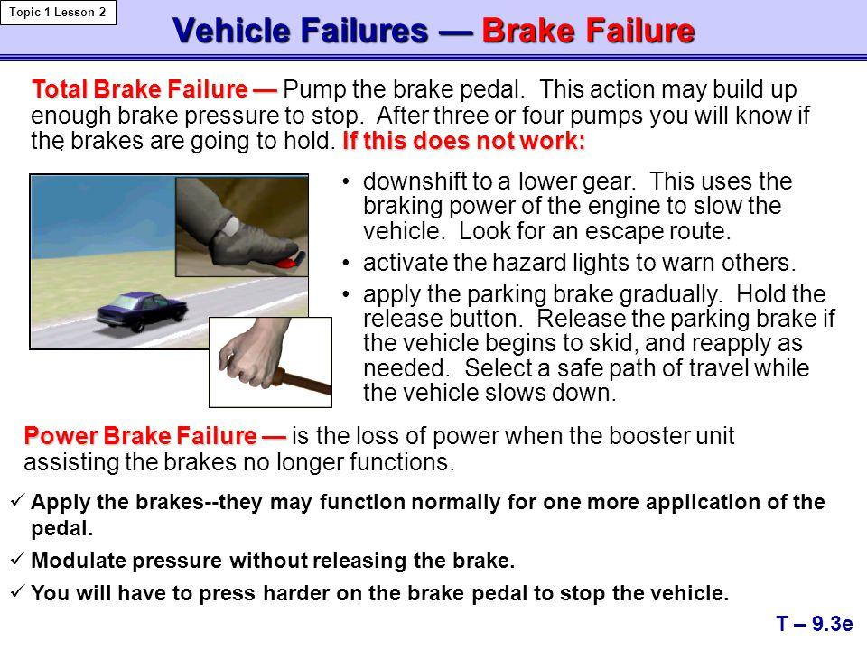 Vehicle Failures — Brake Failure