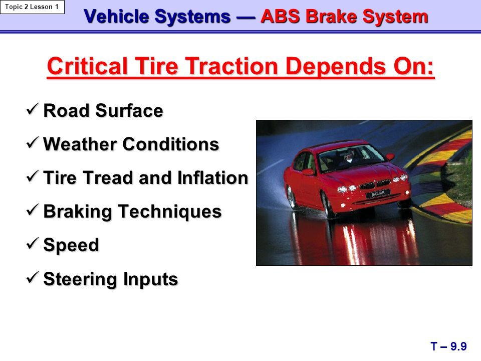 Vehicle Systems — ABS Brake System