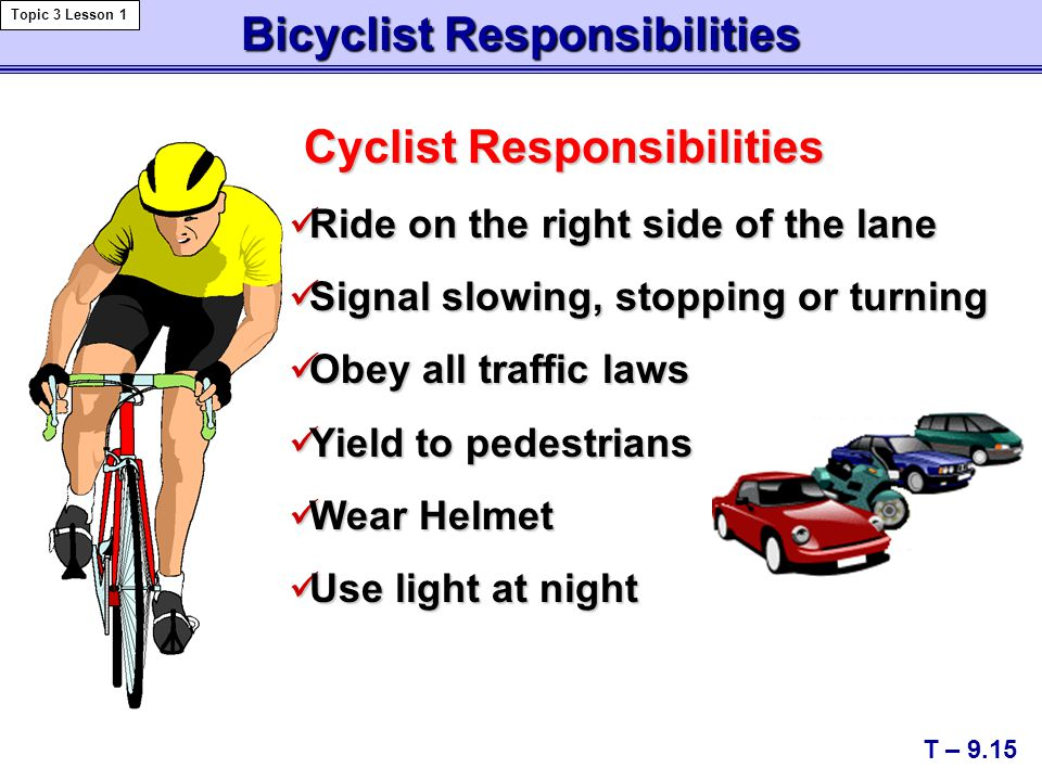 Bicyclist Responsibilities
