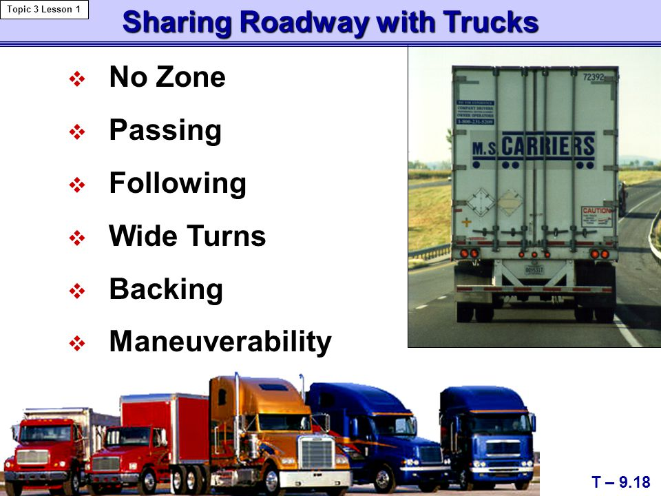 Sharing Roadway with Trucks