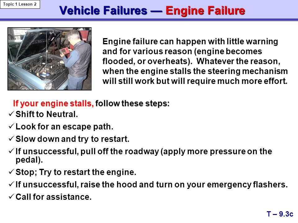 Vehicle Failures — Engine Failure