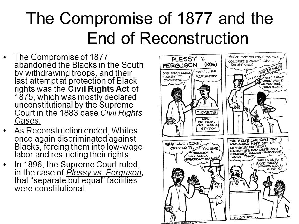 The Compromise of 1877 and the End of Reconstruction