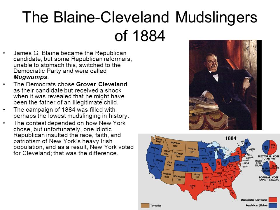The Blaine-Cleveland Mudslingers of 1884