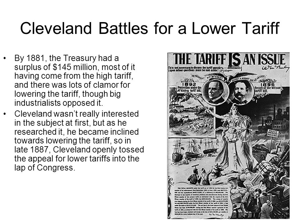 Cleveland Battles for a Lower Tariff