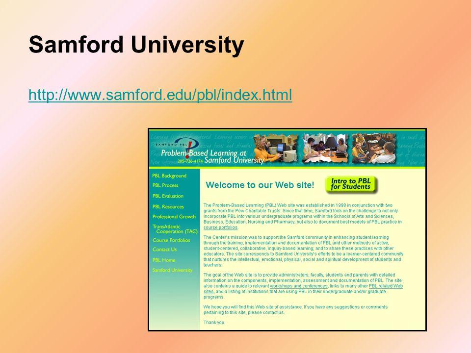 Samford University http://www.samford.edu/pbl/index.html