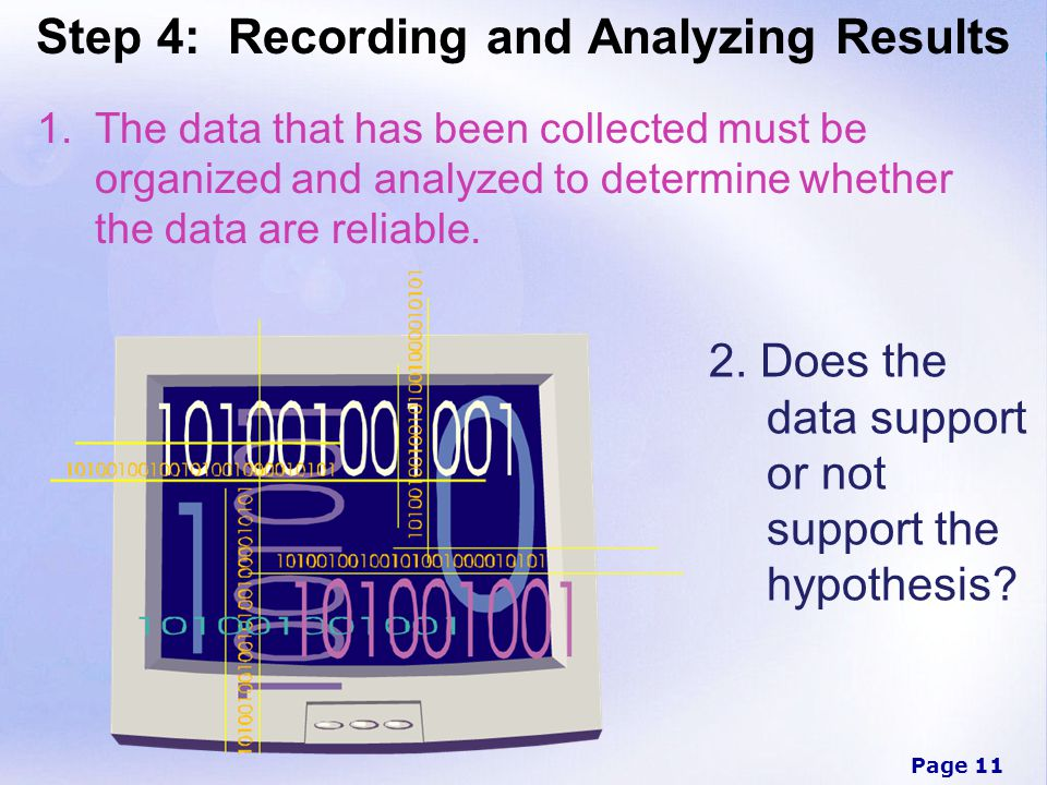 Step 4: Recording and Analyzing Results