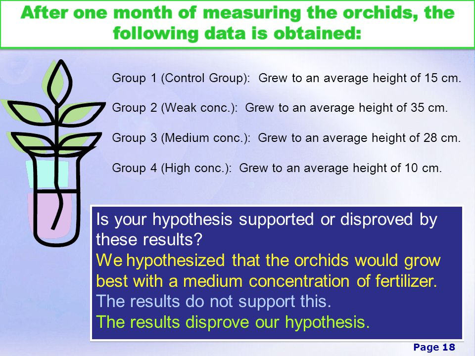 Is your hypothesis supported or disproved by these results