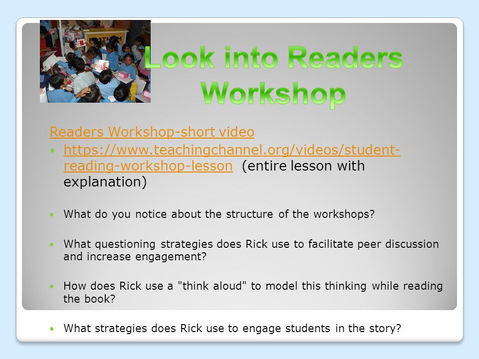 Look into Readers Workshop