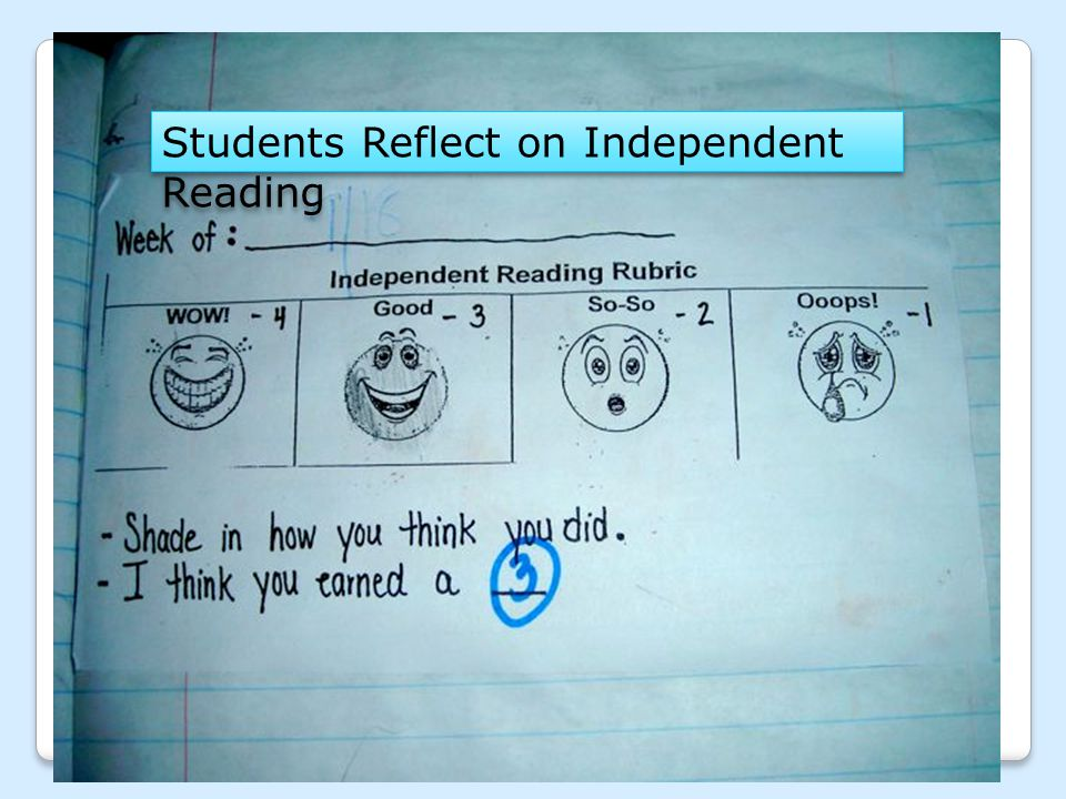 Students Reflect on Independent Reading