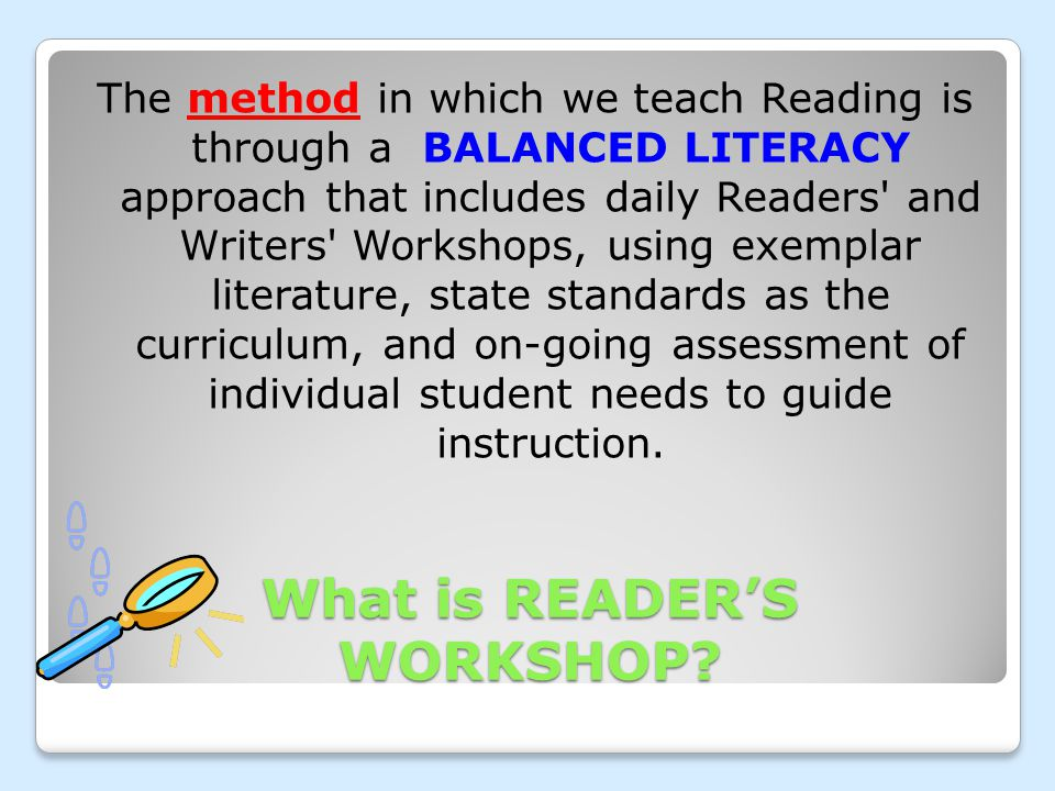 What is READER'S WORKSHOP