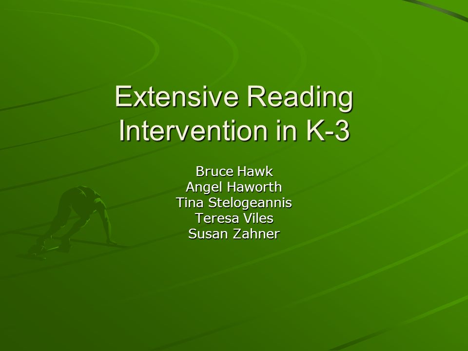 Extensive Reading Intervention in K-3