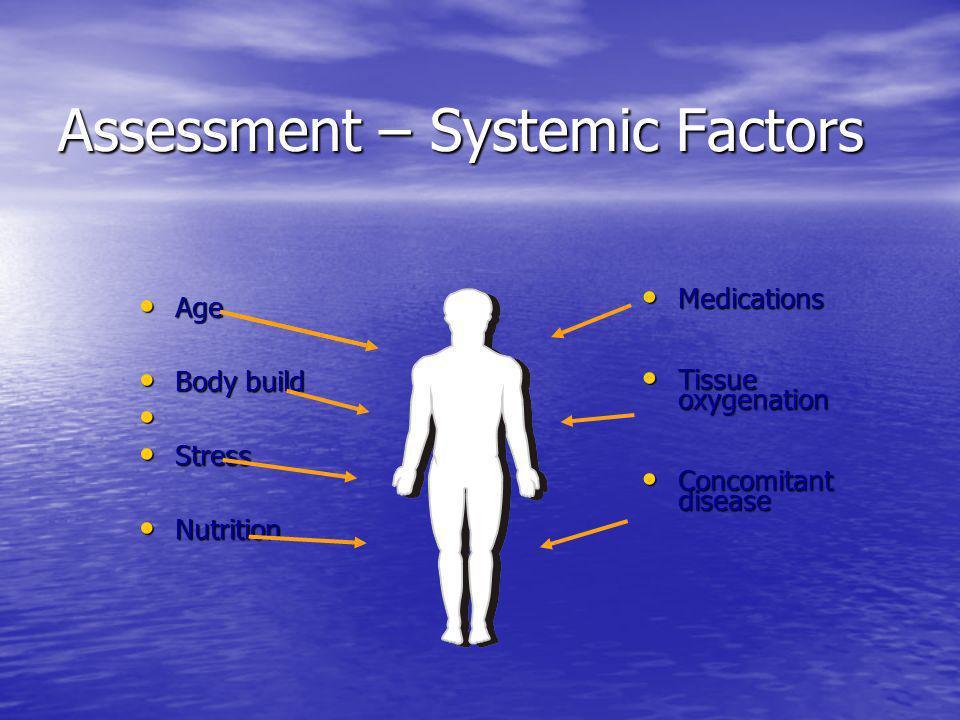 Assessment – Systemic Factors