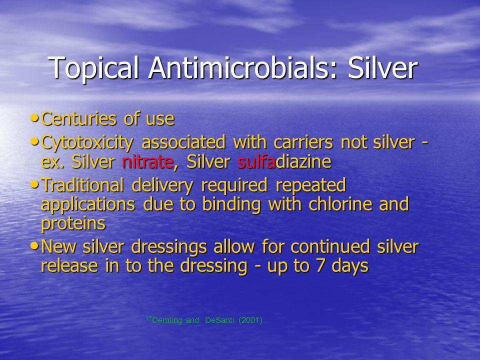 Topical Antimicrobials: Silver