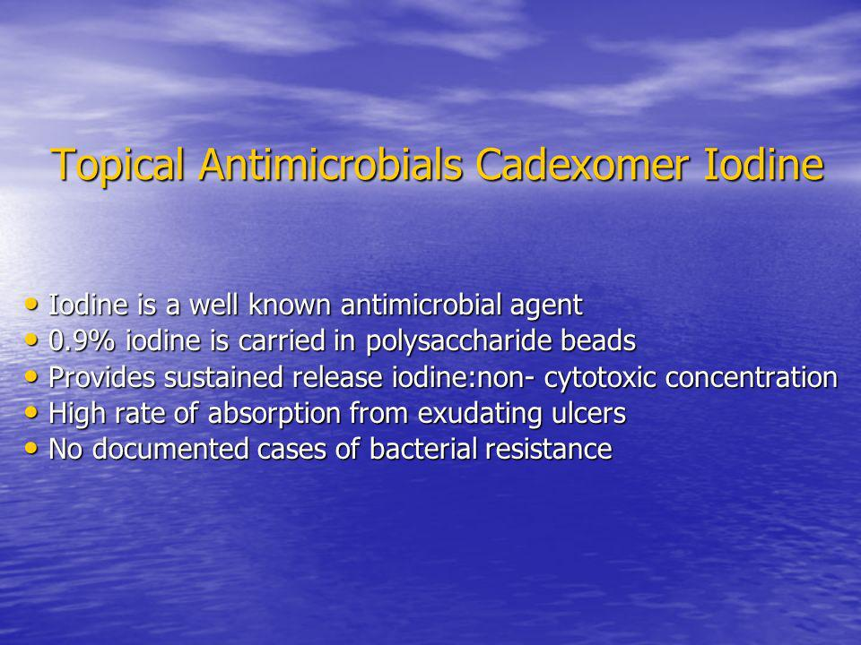Topical Antimicrobials Cadexomer Iodine