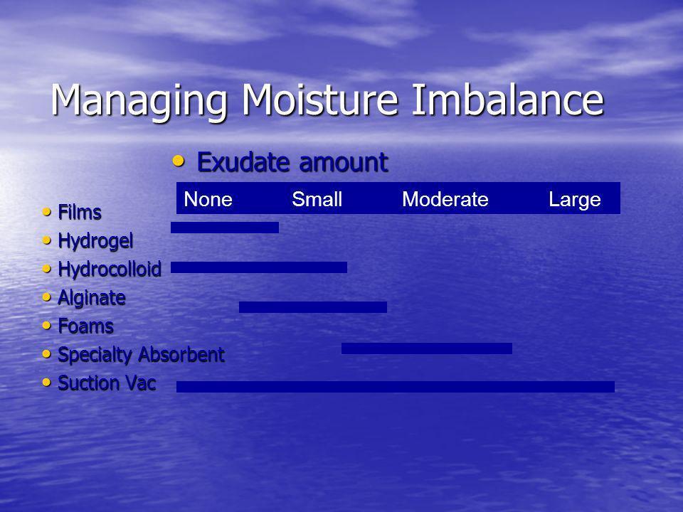 Managing Moisture Imbalance