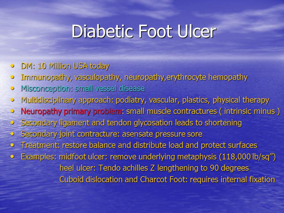 Diabetic Foot Ulcer DM: 10 Million USA today