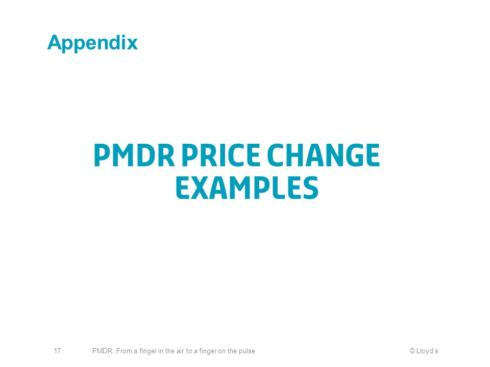 PMDR Price Change Examples