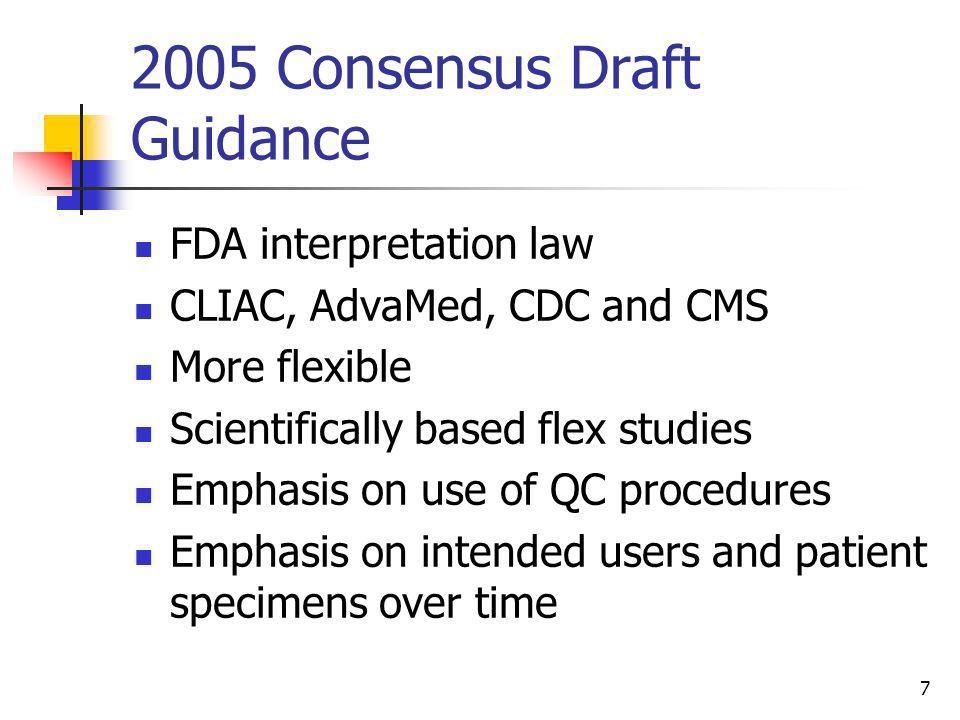 2005 Consensus Draft Guidance