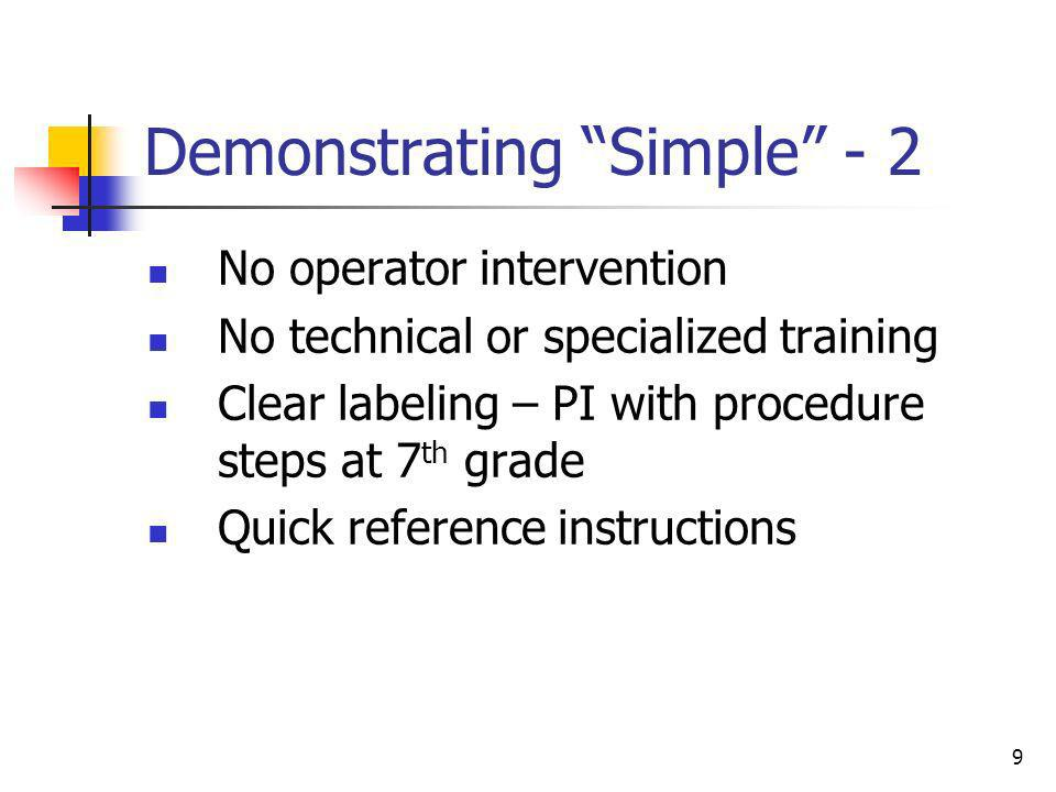 Demonstrating Simple - 2