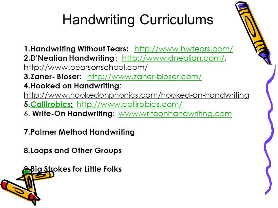 Handwriting Curriculums