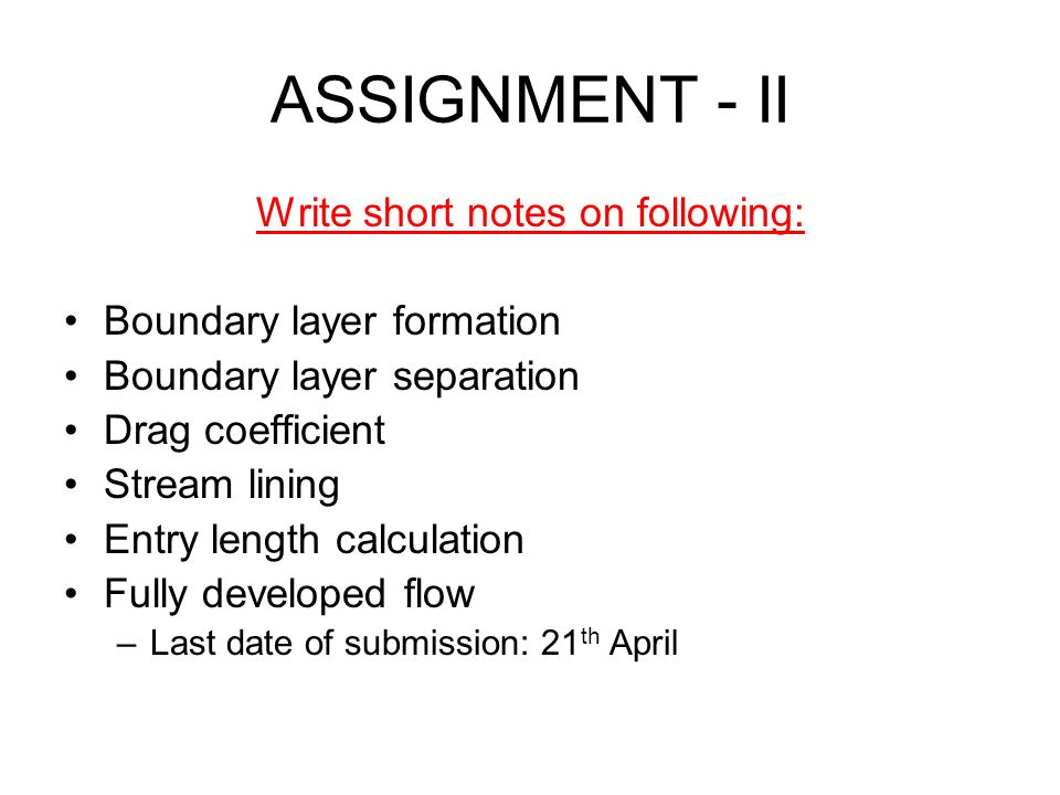 Write short notes on following: