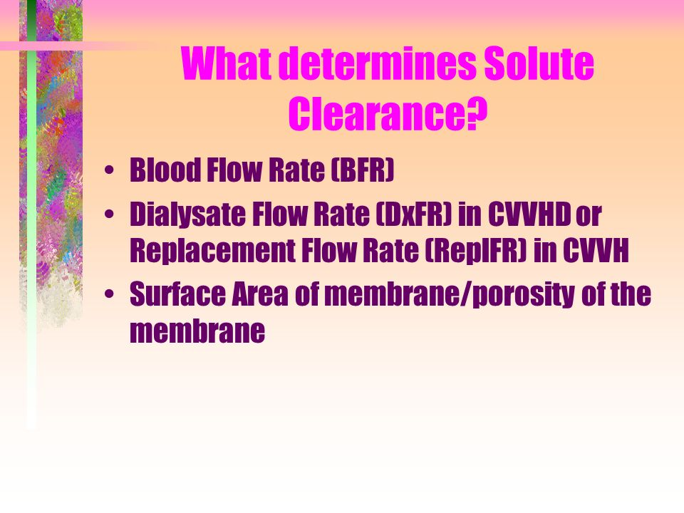 What determines Solute Clearance