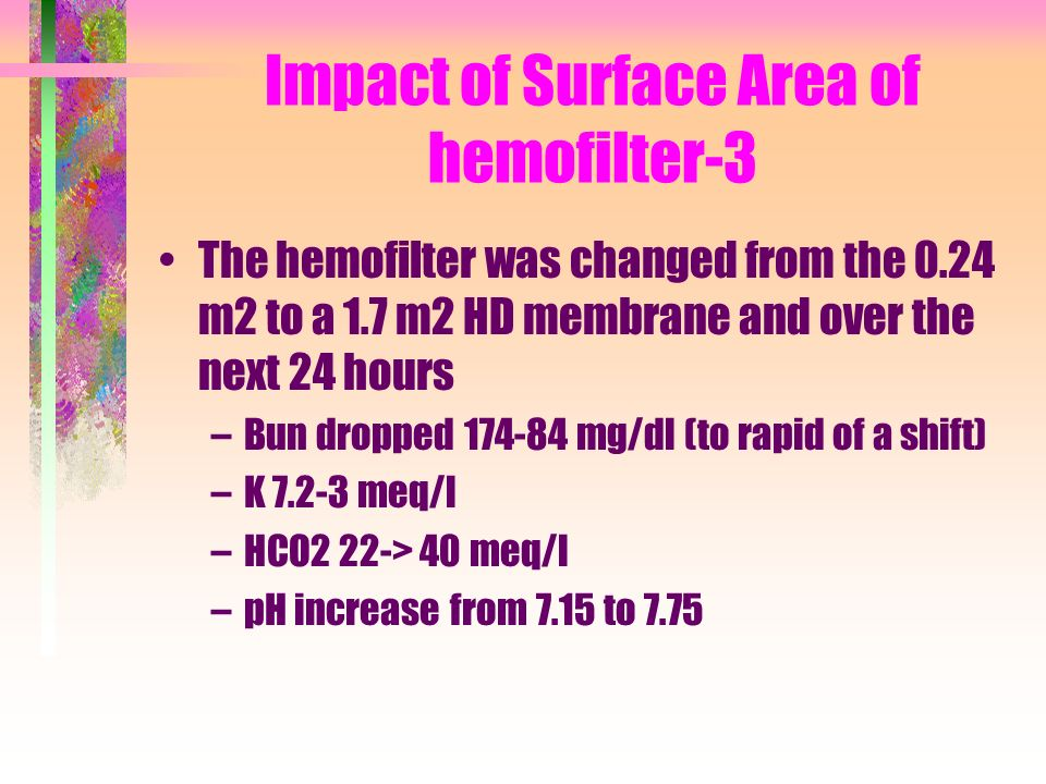 Impact of Surface Area of hemofilter-3