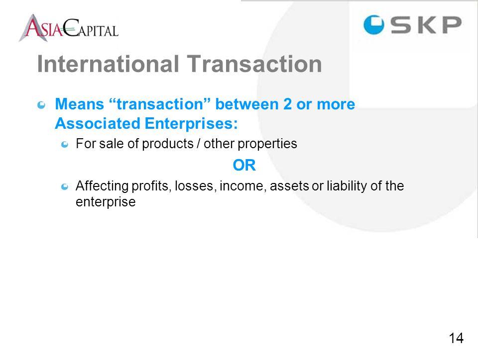 International Transaction