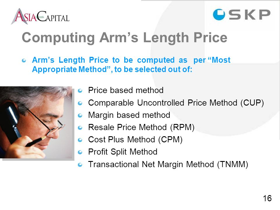 Computing Arm's Length Price