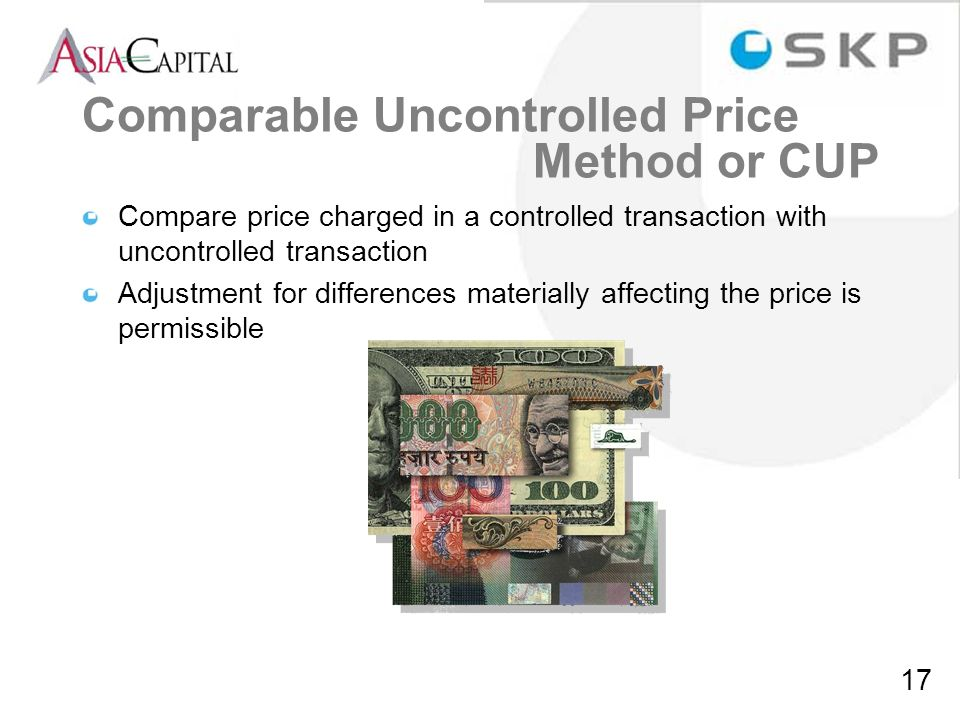 Comparable Uncontrolled Price Method or CUP