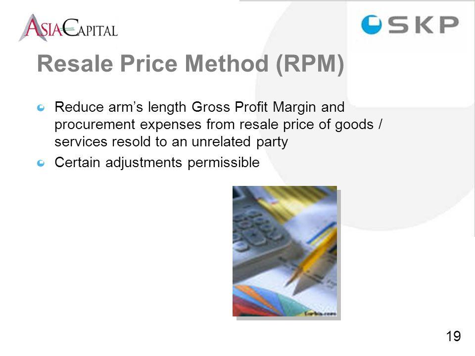 Resale Price Method (RPM)