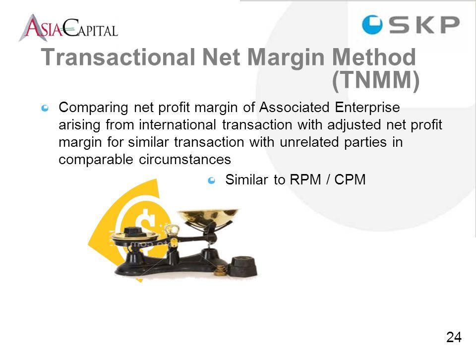 Transactional Net Margin Method (TNMM)