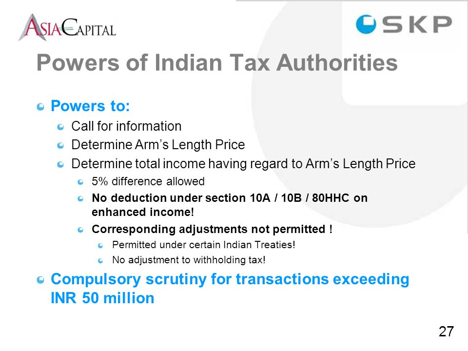 Powers of Indian Tax Authorities