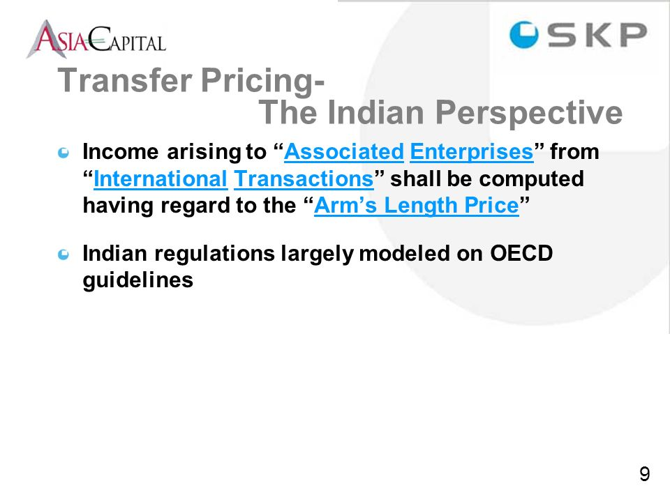 Transfer Pricing- The Indian Perspective