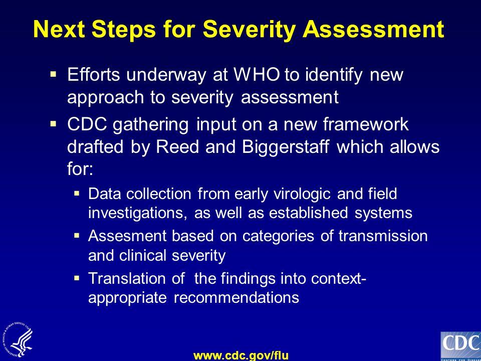 Next Steps for Severity Assessment