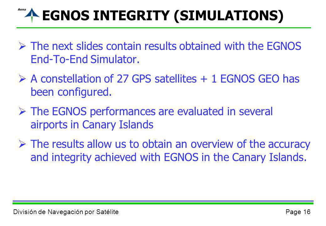 EGNOS INTEGRITY (SIMULATIONS)