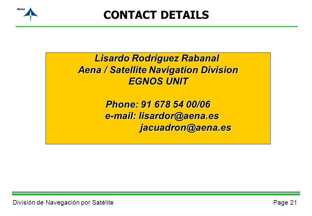 CONTACT DETAILS Lisardo Rodríguez Rabanal