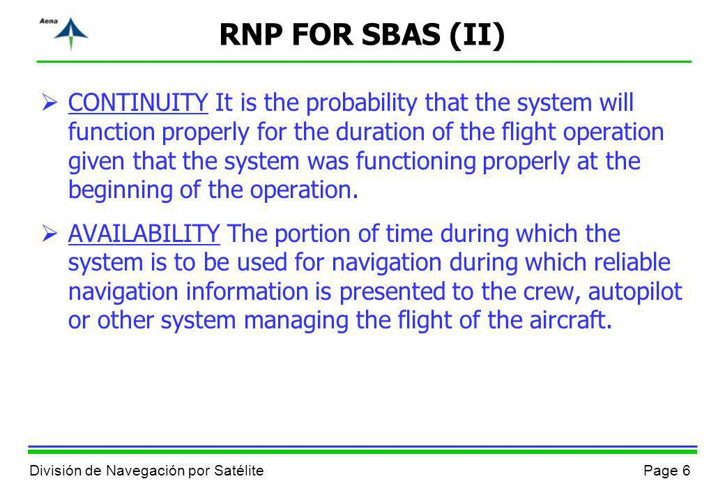 RNP FOR SBAS (II)