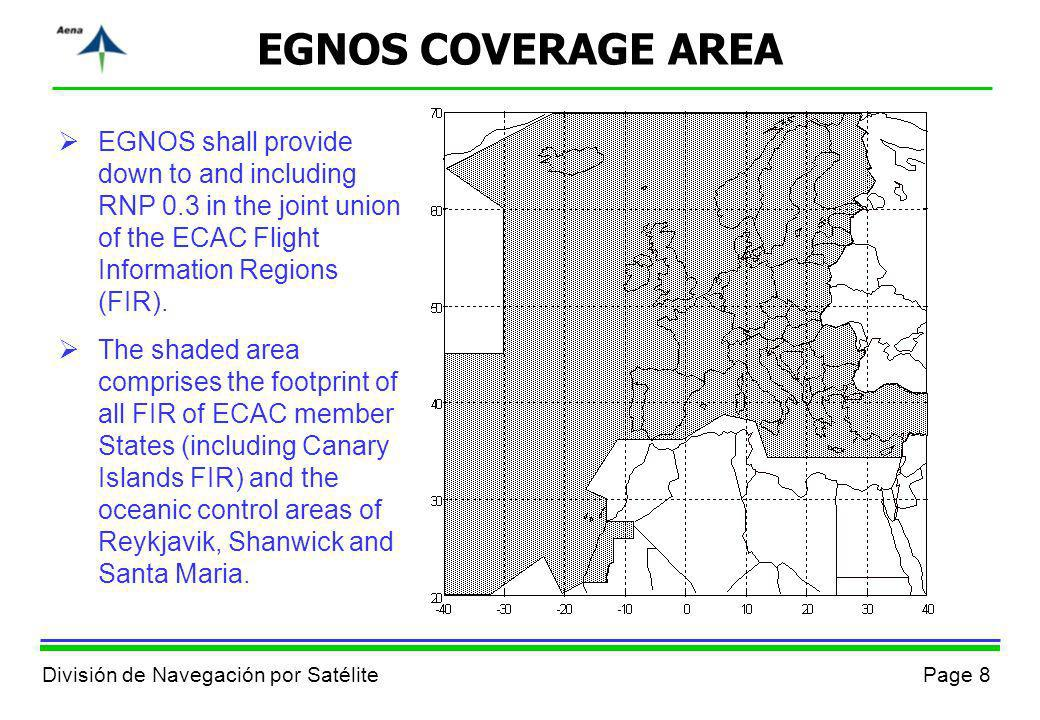 EGNOS COVERAGE AREA EGNOS shall provide down to and including RNP 0.3 in the joint union of the ECAC Flight Information Regions (FIR).