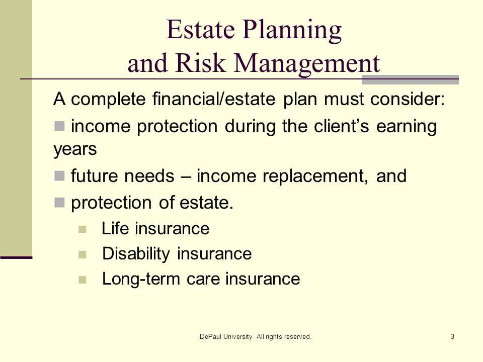 Estate Planning and Risk Management