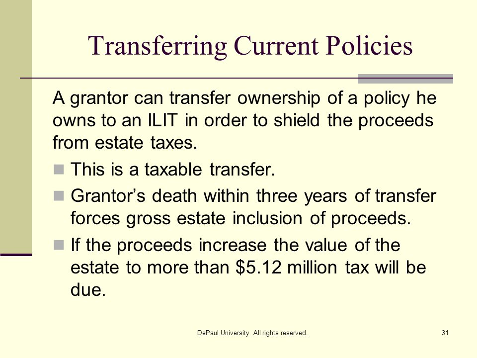 Transferring Current Policies
