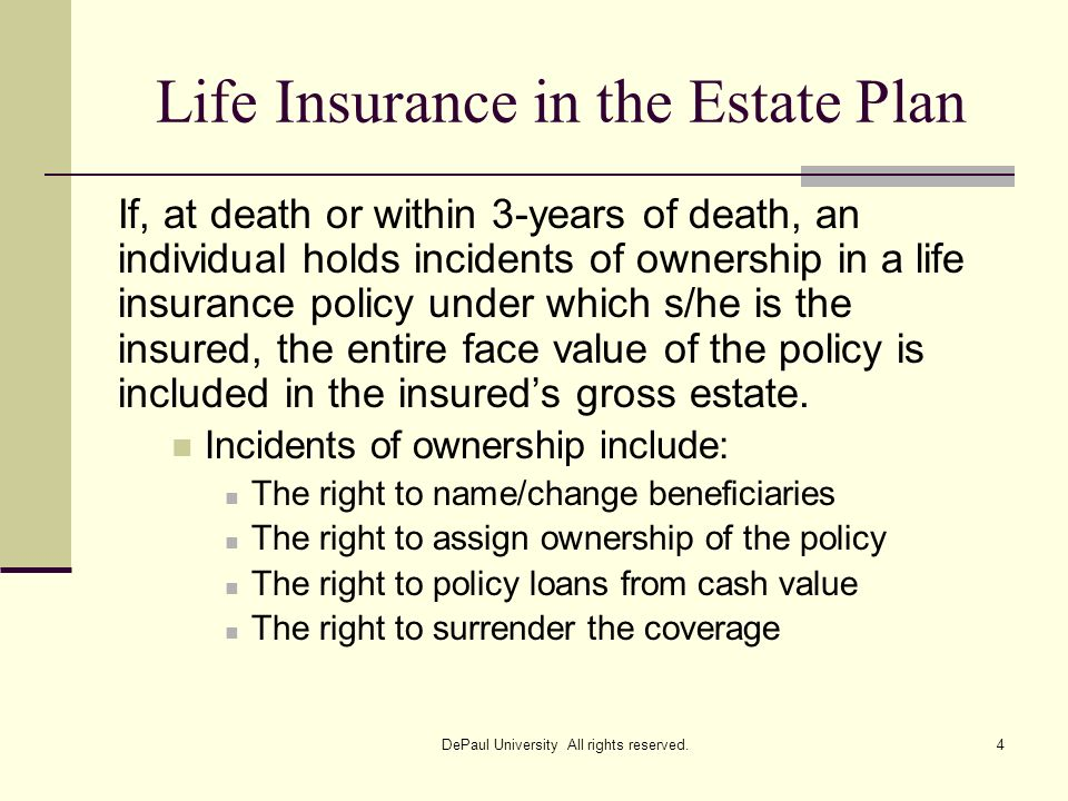 Life Insurance in the Estate Plan