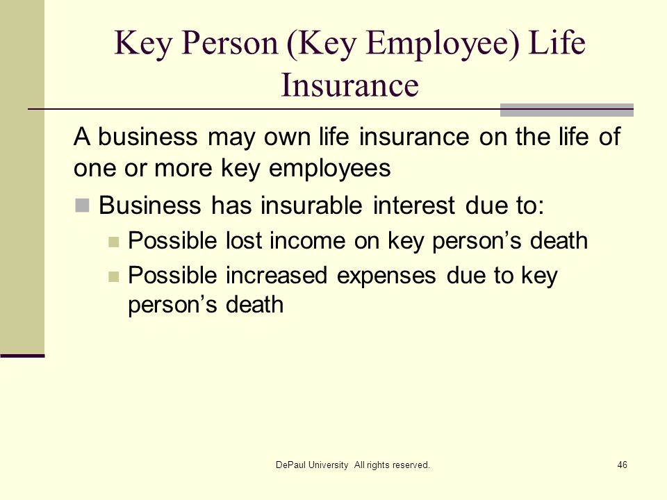 Key Person (Key Employee) Life Insurance