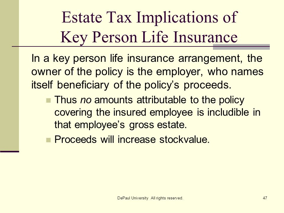 Estate Tax Implications of Key Person Life Insurance