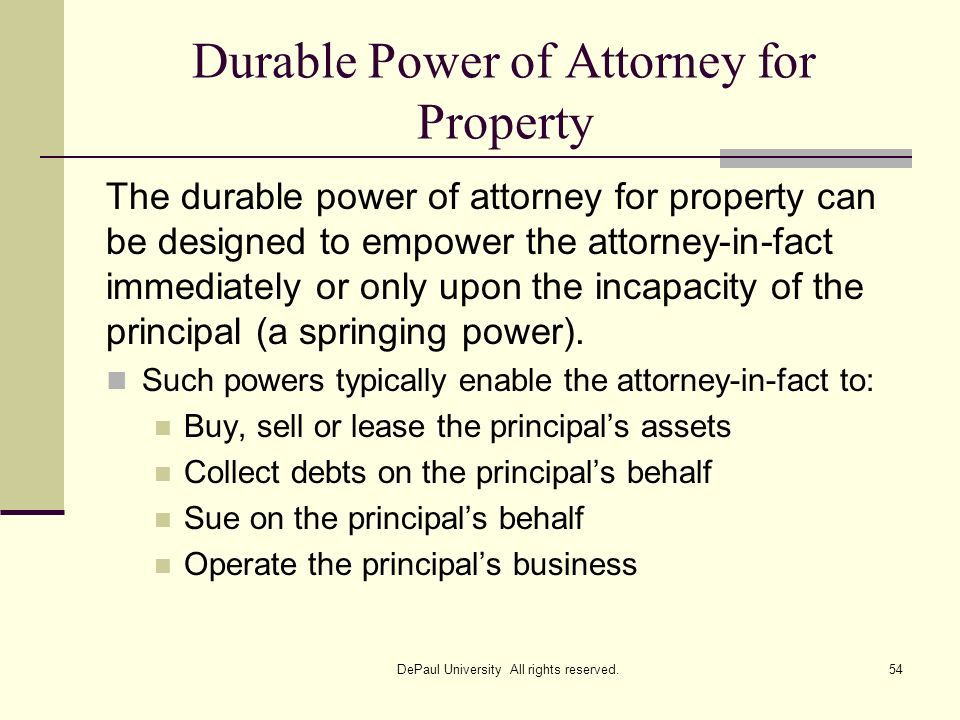 Durable Power of Attorney for Property