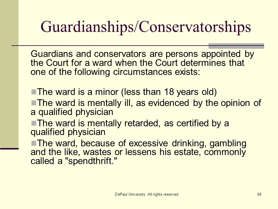 Guardianships/Conservatorships