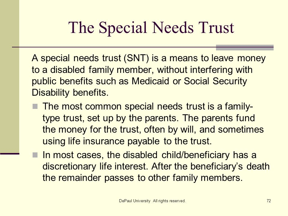 The Special Needs Trust