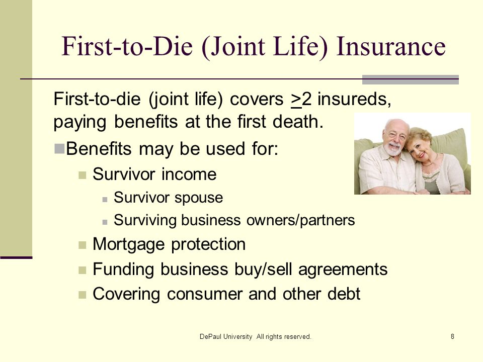 First-to-Die (Joint Life) Insurance