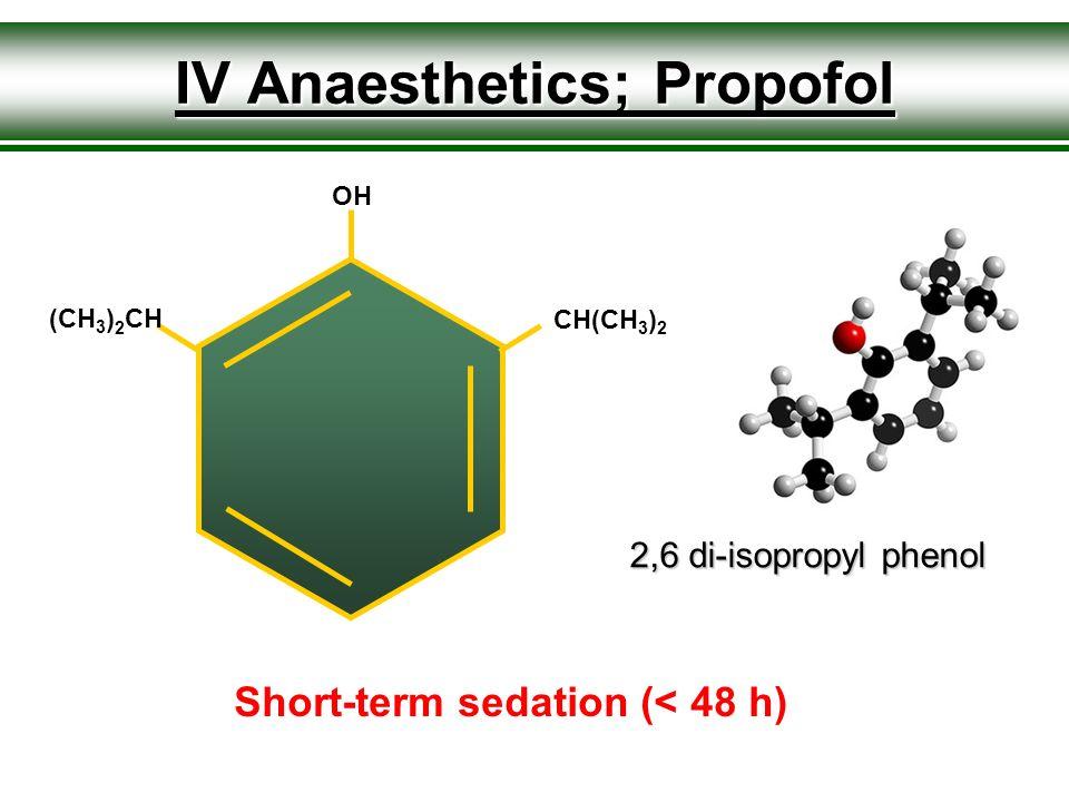 IV Anaesthetics; Propofol