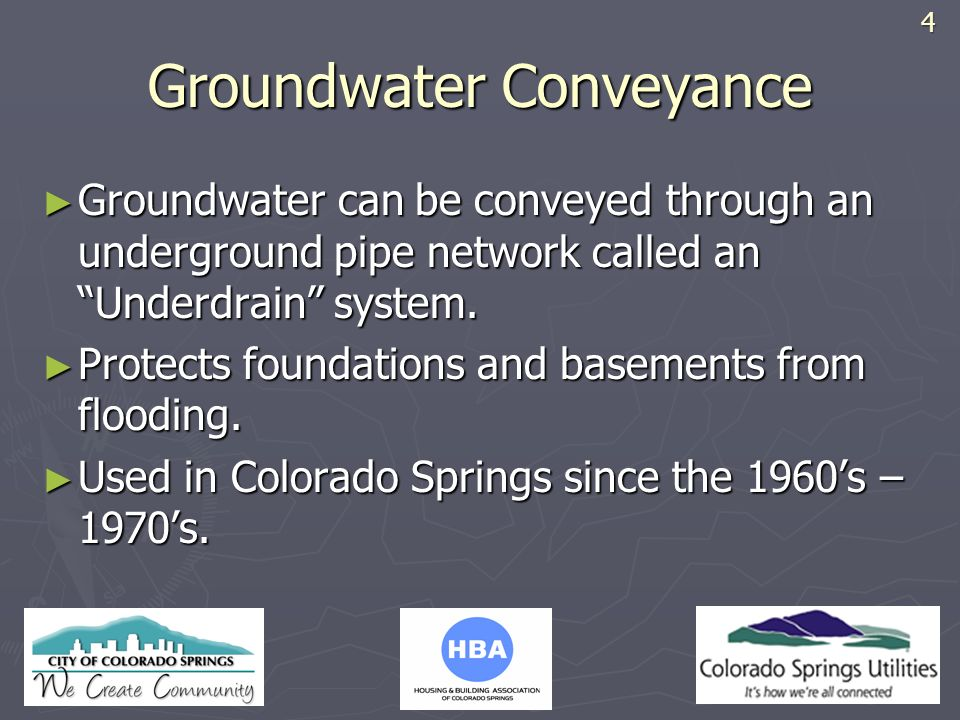 Groundwater Conveyance